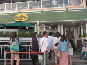 エッグスンシングス江の島店の混雑状況(平日夕方)